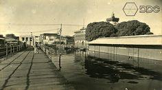 Mercado Municipal, enchente 1953. Foto: Silvino Santos. Acervo: IGHA.