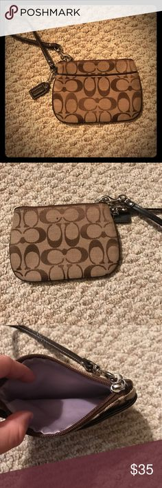 COACH clutch! 👜 Never used!! Perfect condition. Pretty lavender color on the inside Coach Bags Clutches & Wristlets