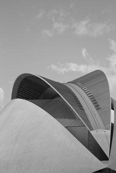 Santiago Calatrava – Auditorio. Museo de la Ciencia, Valencia, España. Photography by Rodrigo Lionel, via Flickr