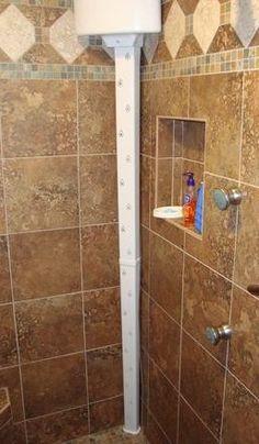Tornado Body Dryer: Dry your entire body without a towel -- while still in your warm shower enclosure! Ada Bathroom, Small Bathroom, Bathroom Ideas, Bathroom Updates, Bathroom Remodeling, Shower Ideas, Handicap Shower Stalls, Handicap Bathroom, Eclectic Bathroom