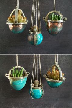 hanging planter pots pretty little pot for by FedericoBecchettiArt