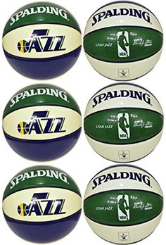 Spalding NBA Utah Jazz Team Colors and Logo Basketball Lot of 6 -- Read more reviews of the product by visiting the link on the image.