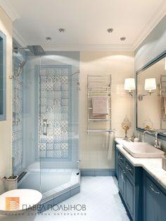 Фото санузел из проекта «Дизайн 4-комнатной квартиры 162 кв.м. в ЖК «Платинум», стиль неоклассика»