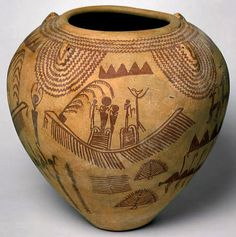 Pre-Dynastic Kemetic Earthenware Vessel -- Circa 3450-3300 BCE -- Egypt -- Via The Heilbrunn Timeline of Art History at The Metropolitan Museum of Art.