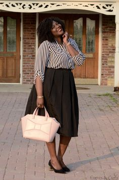 My Curves & Curls™ | A Canadian Plus Size Fashion blog: Black and white
