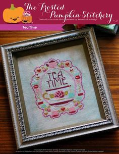 Tea Time PDF Cross Stitch Pattern