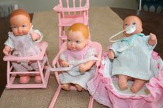 Galoob Bouncin Babies Lot 3 Dolls and by AstridsPastTimes on Etsy, $37.99