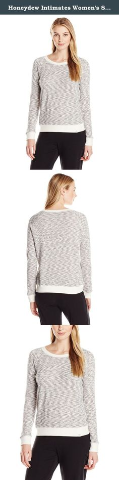 Honeydew Intimates Women's Sleep-In Chic Sweatshirt, Charcoal/Cream, Medium. A warm cozy knit cut from a space-dye terry cloth that's surprisingly lightweight.