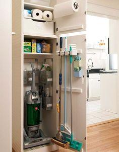 Small space living - organized closet