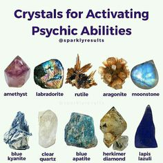 Image may contain: text and food Get an Online Psychic Reading from one of our Online Psychic Readers in the comfort of your own home/office. Crystal Guide, Crystal Magic, Crystal Healing Stones, Crystals And Gemstones, Stones And Crystals, Gem Stones, Chakra Crystals, Blue Crystals, Natural Crystals