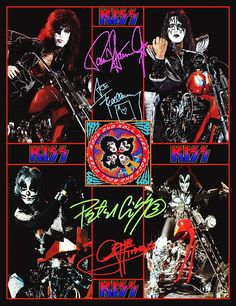 KISS 1976 Motorcycle / Chopper Photos Stand-Up Display - Kiss Band Collectibles…