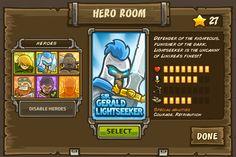 Kingdom Rush - Hero Room (http://playpeep.tumblr.com/)