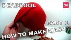 How to Make Deadpool Movie Mask Part 1 - Sewing Fabric #1809 DIY