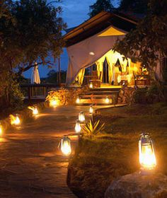 Serengeti Migration Camp, Serengeti National Park, Tanzania  20 tents with wraparound porches and attentive service along the Grumeti River, a popular gathering spot for hippos. Doubles from $1,460–$1,560, all-inclusive.