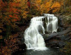 Bald River Falls on the Tellico River, Tellico Plains, TN, near the Tennessee - North Carolina border; over 80 feet high
