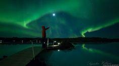 アイスランド 温泉に入ってオーロラをみる いくつかあるみたい