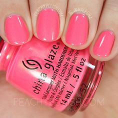 China Glaze Bite Me   Summer 2016 Lite Brites Collection   Peachy Polish #pink