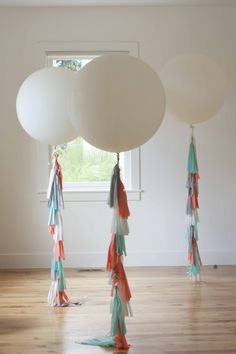 how to make a tassle for balloons