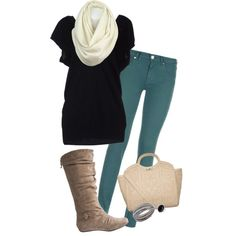 """Fall in the South-Teal"" by misstinamaria on Polyvore"