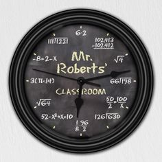 Math Equation Chalkboard Clock. I'm hoping one of my super creative relatives sees this.. :)