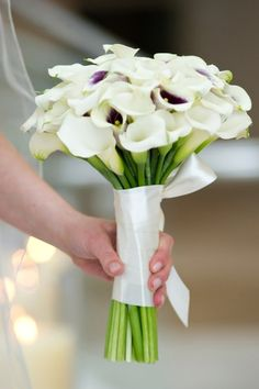 Calla Lilly bouquet.  Know what flowers are in season for your wedding, now on the Rachel Events blog! www.rachelevents.com Dallas and Austin Wedding Planners!