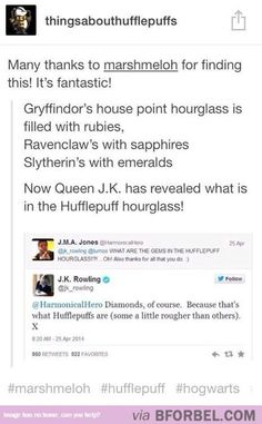 Diamonds For Hufflepuff… only fitting that we have the toughest substance on earth!
