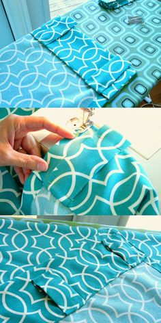 Sewing back tab curtains