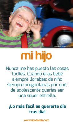 TE QUIERO HIJO 15 de mayo: Día Internacional de la Familia www.dondeesta.com