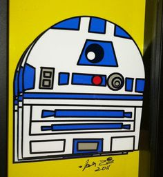 This R2D2 Pop Art droid helped destroy the Empire. Now he wants to hang in your home.     R2-D2 is the perfect companion piece to my other Star Wars 3-D pop artwork, which includes his buddy C-3PO as well as the merciless bounty hunter Boba Fett.     (This listing is for the R2-D2 piece ONLY.)    Each piece is sold separately and come framed and ready to hang.     Dimensions: 4x6″ framed     The artwork is hand signed by the artist.    Be sure to check out more of my television and movie…