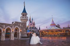 This Disney couple is living a magical fantasy at their portrait session in Magic Kingdom. Photo: Disney Fine Art Photography