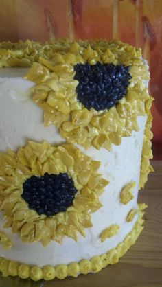 My Sunflower Cake (the outside) - www.RossSveback.com