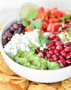 Southwest Avocado Salad (with pomegranate … because why not?)