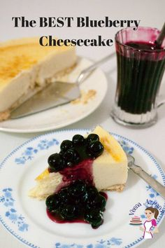 This baked blueberry cheesecake is rich, silky, smooth over buttery cheesecake crust and topped with blueberry filling for that classic blueberry cheesecake No Bake Blueberry Cheesecake, Cheesecake Crust, How To Make Cheesecake, Classic Cheesecake, Cheesecake Recipes, Graham Cracker Crust, Graham Crackers, Blueberry Compote, Melting In The Mouth