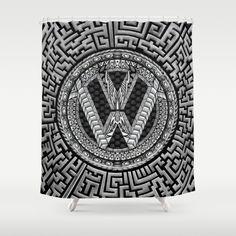 Aztec vw volkswagen sign Shower Curtain @society6 #showercurtain #artprint #artdesign #frameart #artprinting #aztec #car #logo #jeep #bmw