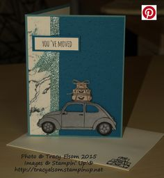 New home card created using the Beautiful Ride Stamp Set from the Stampin' Up! 2016 Occasions Catalogue.  http://tracyelsom.stampinup.net