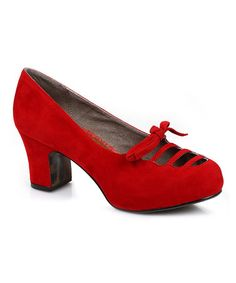 Love this Red Letty Pump by Bettie Page on #zulily! #zulilyfinds