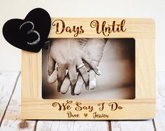 Engagement Gift Engagement gifts engraved She by CustomWoodWonders