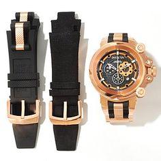 Invicta Mens Coalition Forces Trigger Swiss Made Quartz Bracelet Watch w/ 3-Slot Dive Case