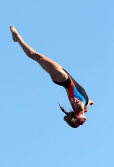 The women's 20m High Diving competition. (Photo by Quinn Rooney/Getty Images)
