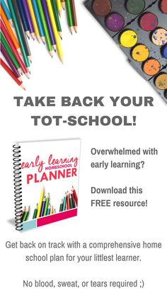 Do you shed a tear as you sit down to plan your home school preschool lessons? Is your confidence down the drain when it comes to your ability to truly teach your toddler at home? It's time to take back your tot-school! This free printable planner will give you the tools you need to tackle early learning planning with confidence. Monthly and weekly planning pages, suggested monthly themes, habit training, printable chore charts, and reading checklists. Click to print and go!