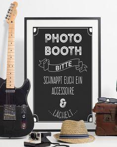 Hochzeitsdeko - Photobooth-Poster, DIN A3 - ein Designerstück von FlitterBOOK bei DaWanda