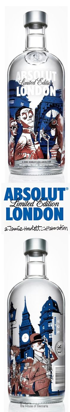 ~The limited edition Absolut London collaboration with artist, Jamie Hewitt | The House of Beccaria