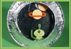 Preschool Crafts for Kids*: Spaceship Porthole Paper Plate Craft