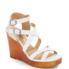 Lucky Brand  Leather Wedge Platform Sandals 5.5