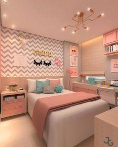 best teen girl bedroom decor ideas 31 – Home Decor Pink Bedrooms, Teenage Girl Bedrooms, Teen Bedroom, Modern Bedroom, Bedroom Decor, Contemporary Bedroom, Bedroom Plants, Bedroom Yellow, Bedroom Furniture