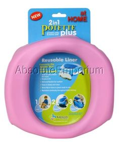 Kalencom Potette Plus At Home Reusable Liners, Pink Portable Potty Trainer Seat in Baby   eBay