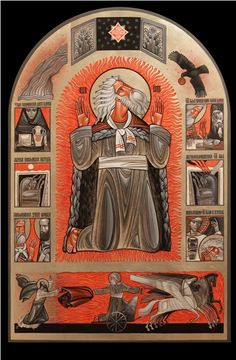 Elijah Icon with scenes from his life
