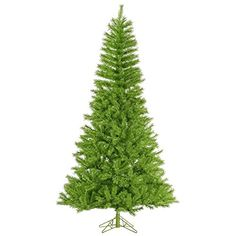 Vickerman Unlit Tinsel Artificial Christmas Tree 65 x 42 LimeGreen -- You can find more details by visiting the image link.