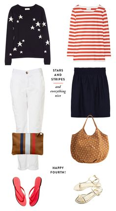 Stars-and-stripes outfits from Note to Self