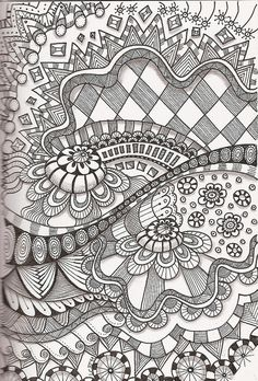 I Love Your Curves -- one of many 'Tangles' -- would be great coloring pages -- or possible quilt design??